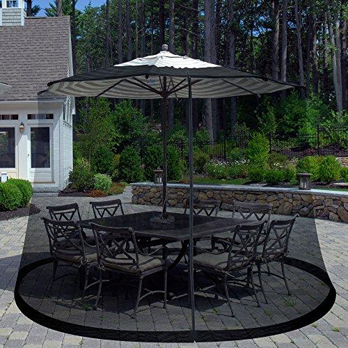Pure Garden Outdoor Umbrella Screen Height Umbrella Table Mesh Top