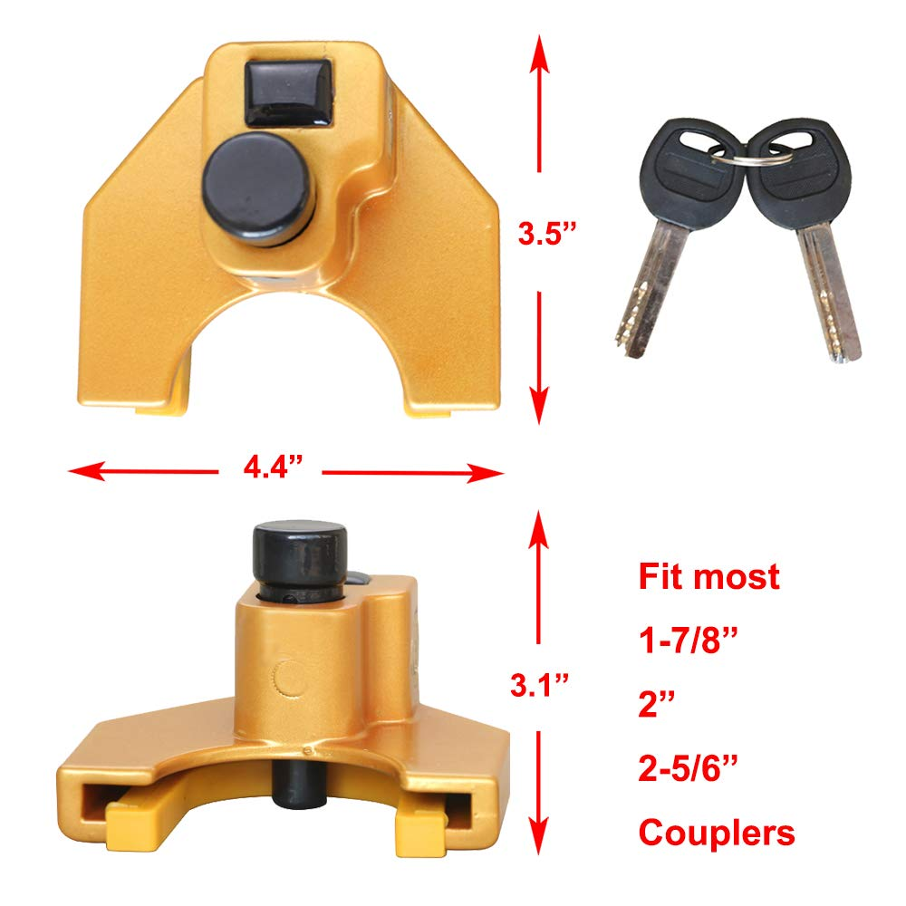 OKLEAD Universal Trailer Lock Receiver Lock for Coupllings from 1-7//8 to 2-5//16 Receiver Lock for Coupllings from 1-7//8 to 2-5//16 OKL6075 Coupler Lock
