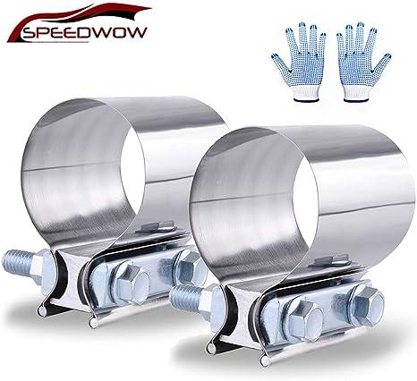 Amazon.com: SPEEDWOW - Abrazadera de tubo de escape de acero ...