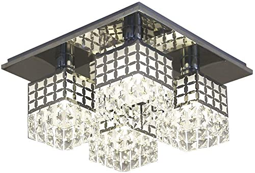 Modern Crystal Chandeliers Ceiling Light Flush Mounted Pendant Lamp Ceiling Lighting Fixtures for Living Room Dining Room