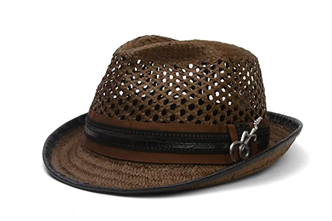 040ba1bf Santana Ribbon and Leatherette Trim Fedora Hat at Amazon Men's Clothing  store: Carlos Santana Hat