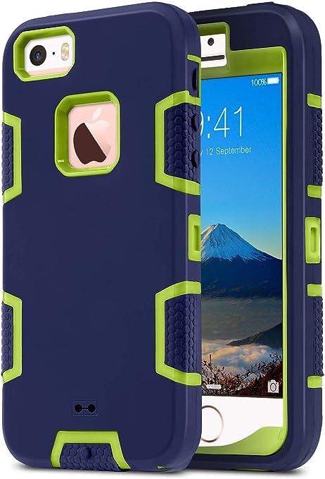 Opinioni per Cover iPhone 5S ULAK iPhone SE Custodia ibrida a