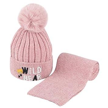 a8040bc0a96 Amazon.com  Longay Toddler Girl Boy Baby Winter Crochet Knit Hat ...