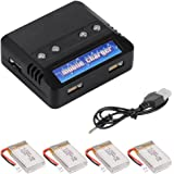 XCSOURCE 4 pcs 3.7V 800mAh Lipo Battery + Charger For Syma X5C X5A X5SC X5SW Parts RC Quadcopter BC535