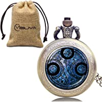 Doctor Who Gift Set for Women Men, Pocket Watches for Boy Girls, Anniversary Christmas Gift Sets