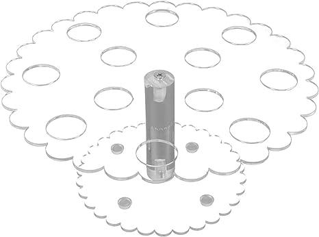 LUOEM Soporte acr/ílico para helado con 8 agujeros