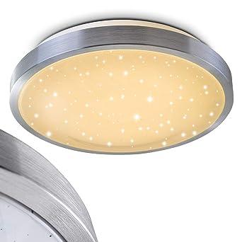 Bad Lampe Sora Star Aus Gebürstetem Aluminium U2013 Warmweißes LED Licht Mit  900 Lumen