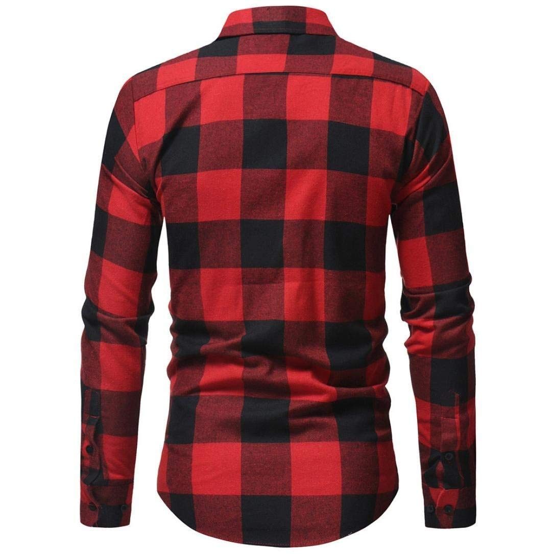 freedomer Plaid Shirt for Mens Long Sleeve Button Down Classic Fit Casual Shirt