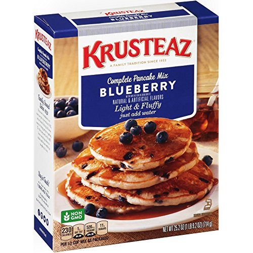 Krusteaz Complete Blueberry Pancake Mix, 25.2 oz box (Pack of 12) (Continental Mills)