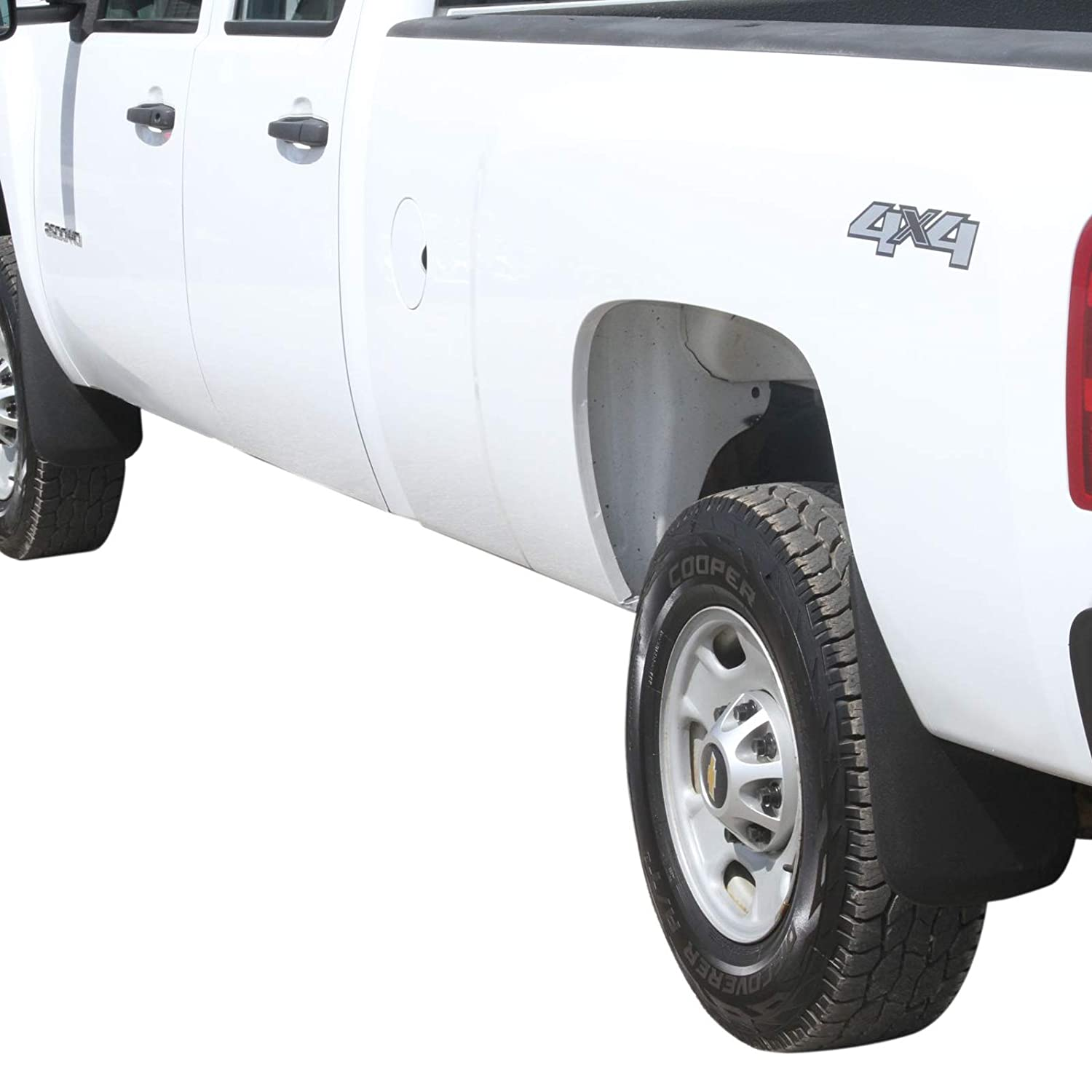 Premium Heavy Duty Molded 2007-2013 Compatible with Silverado 1500 Mud Flaps Guards Splash Front /& Rear 4pc Set