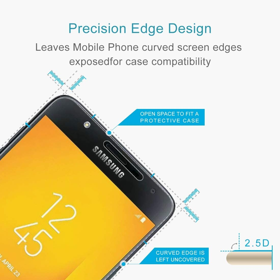 YINZHI Screen Protector Film 100 PCS 0.26mm 9H 2.5D Explosion-Proof Tempered Glass Film for Meizu 16X Clear