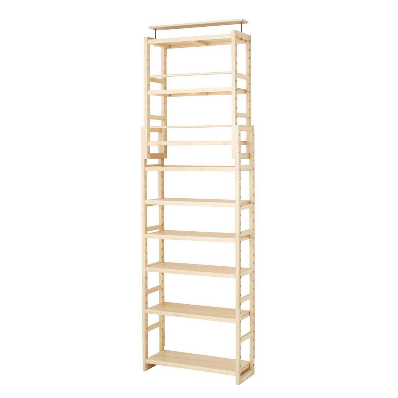 [ベルメゾン] 突っ張り 木製 シェルフ 薄型 ライトナチュラル タイプ/幅×奥行(cm):C/75×17 B079S1XMSY