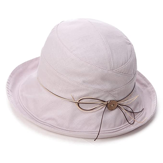1159e2d749cbb Image Unavailable. Image not available for. Color  Siggi SPF 50+ Cotton  Linen Packable Bucket Sun Hats for Women Wide Brim Sunhat with