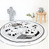 2018 New Kids Game Mats Baby Crawling Blanket Chilren Play Rug Round Racing Games Carpet Kids Room Decorations