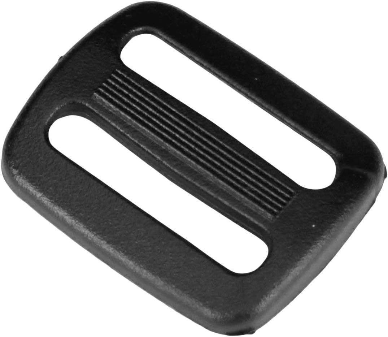 Rifle Slings for Bag Straps Strapworks Black Plastic Tri-Glide Slide 1 Inch Dog Collars