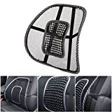 AV SUPPLY Extra Comfortable Adjustable Breathable Mesh Lumbar Support Back Cushion Fit All Types Office Home Chair Car Seat | Perfect Cushion Pad for Fatigue Back Pain Poor Posture Soreness Relief