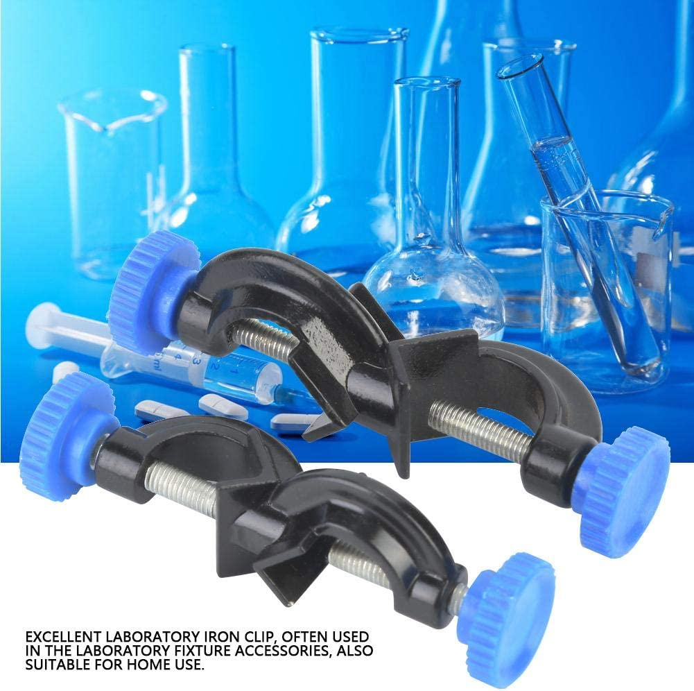 2 Pcs Aluminum Sprayed Cross Clamp Lab Stand Clamp Holder for Laboratory Lab Cross Clamp