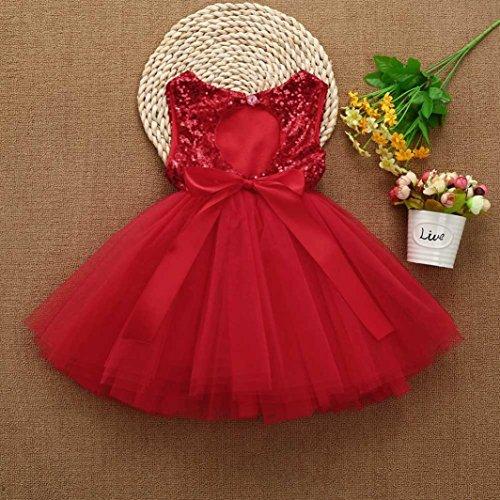Neonata Bambini Vestito Rifornisce Yango® Rosso Paillettes Partito Di Di Bambino Cuore Del Bambino Principessa Vestito Tutu Tulle AwIt8t