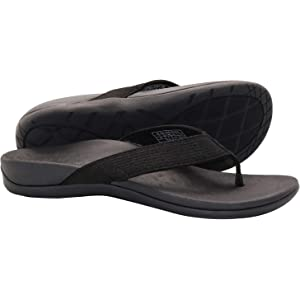 Powerstep Womens Fusion Sandals Black Size: 5 US 5 AU