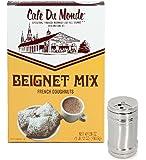 Cafe Du Monde Beignet Mix and Powdered Sugar Cocoa Cinnamon Shaker Set