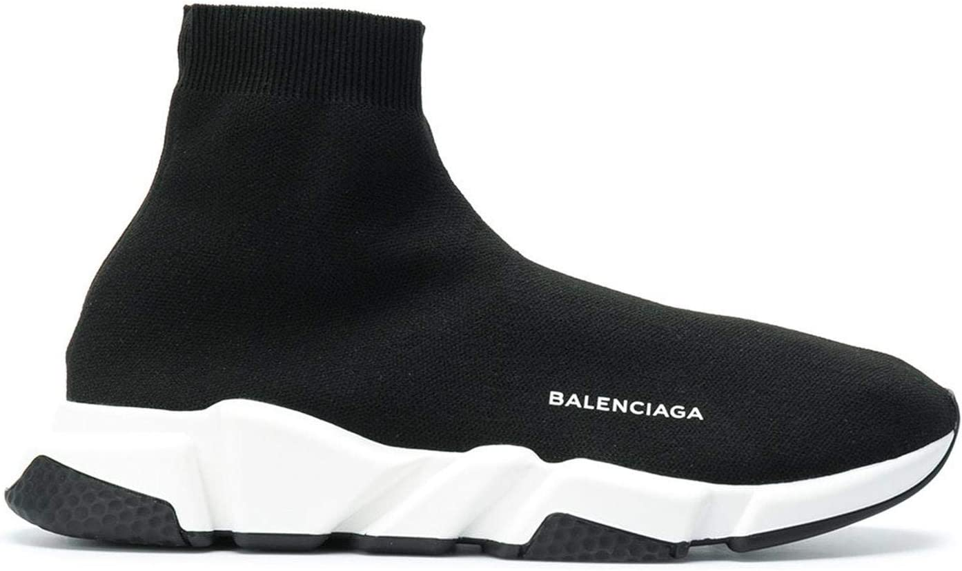 Balenciaga Speed Trainer Sock sneakers shoes BLACK white For