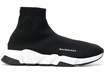 d28881de9 Balenciaga Speed Trainer Sock sneakers shoes BLACK white For Unisex ...