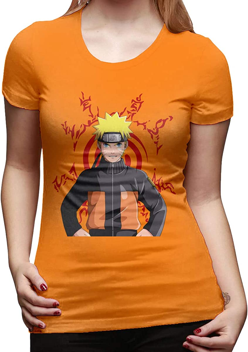 LIIREN Womens Konohagakure Uzumaki Naruto Tee T-Shirts Short Sleeve Top Tee