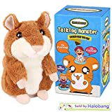 Halobang Talking Hamster Repeat What You Say Mimicry Pet Toy Plush Buddy Mouse for Children Gift