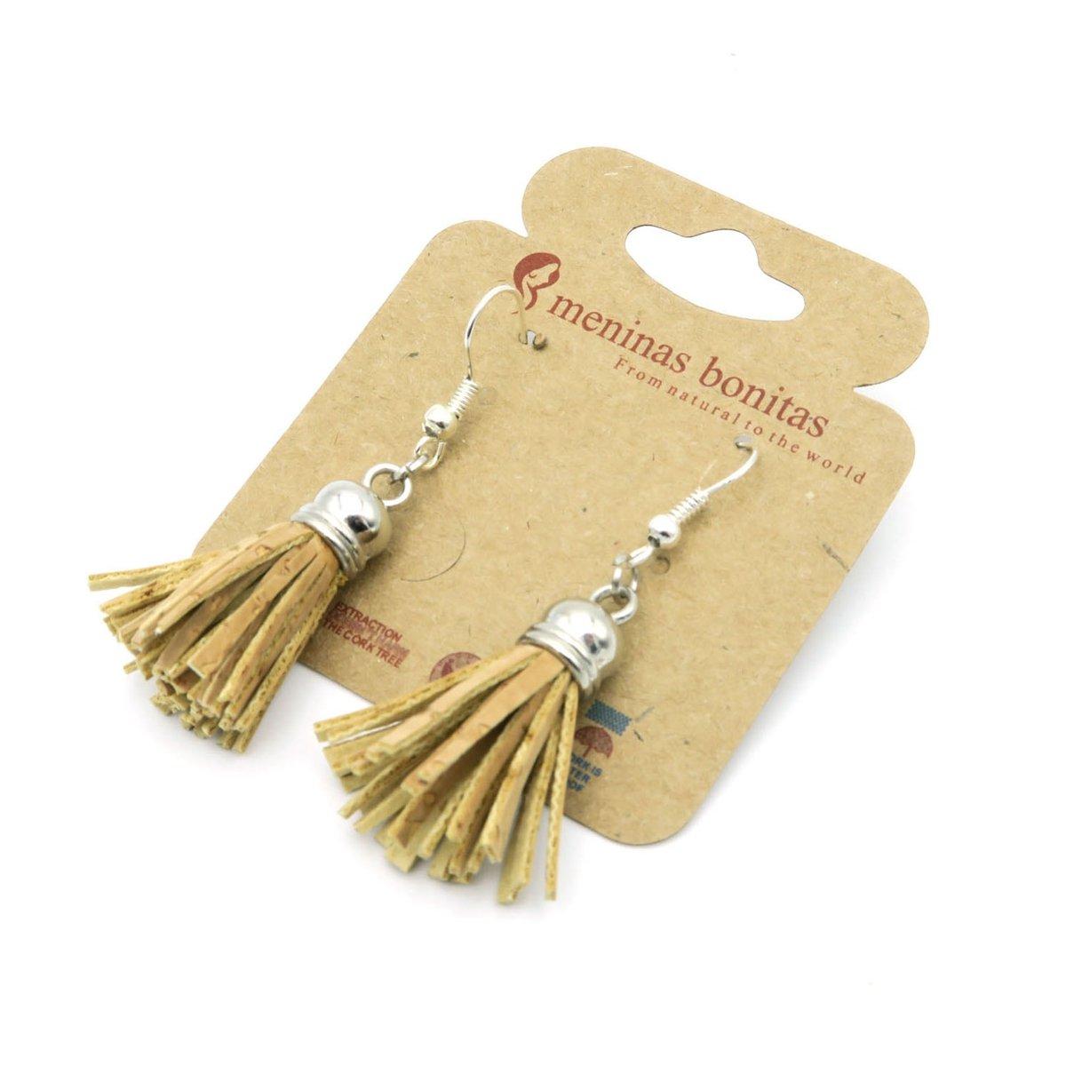 MB Cork tassel cork earrings handmade original fashion women dangle earrings Er-006