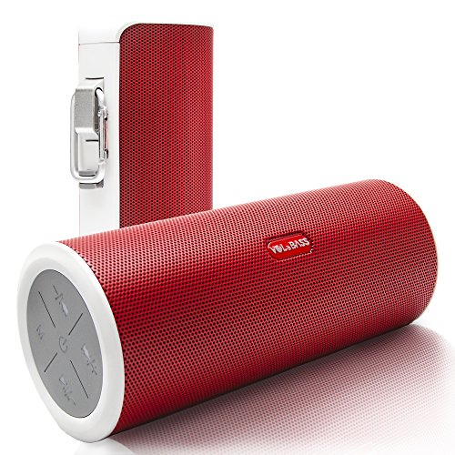 VOLUME & BASS Wireless Bluetooth Speakers. Best Portable Hi-Fi 360 Degree Sound & Rechargeable Power Bank for Iphone Ipad Mini Samsung AUX MP3 Players - Hands Free (RED) by VOL&BASS