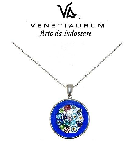 Venetiaurum Made in Italy Collier en verre de Murano et argent 925