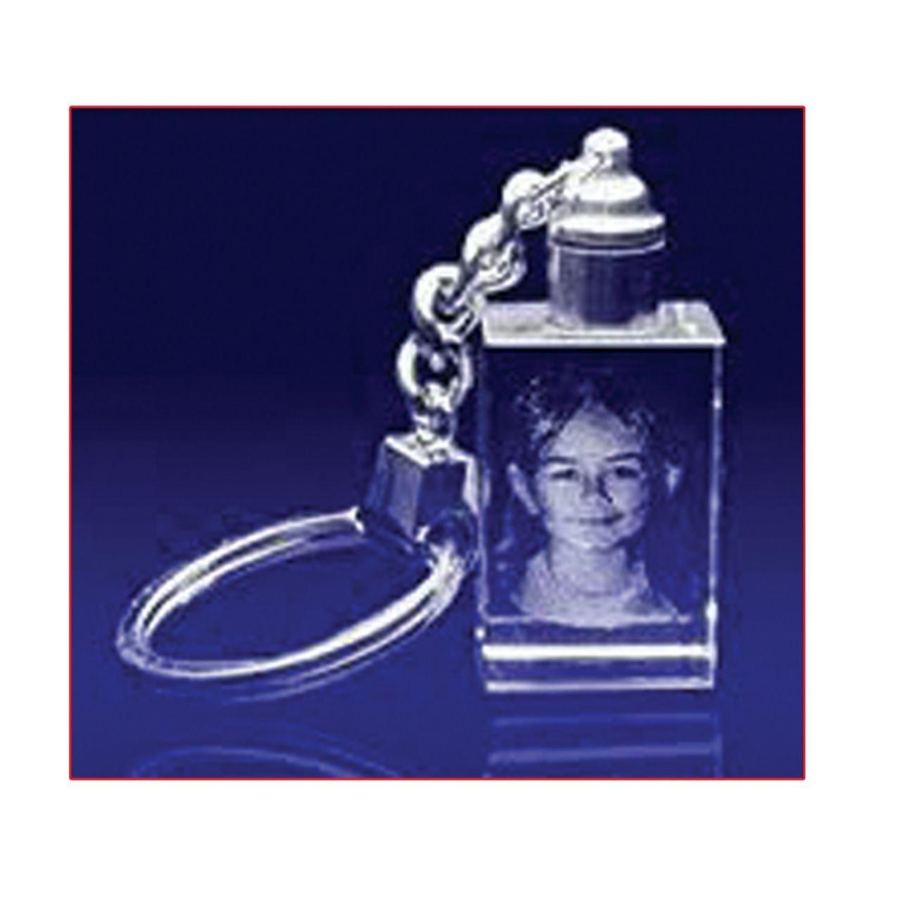 Vijaya Crystal Arts Customized 3d Crystal Cube Key Chain Photo
