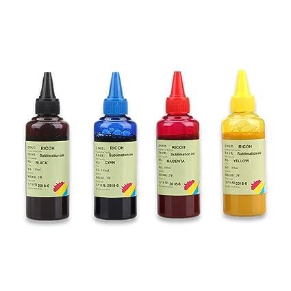 4 Botellas GC41 Tinta de sublimación compatible para Ricoh SG2100N ...