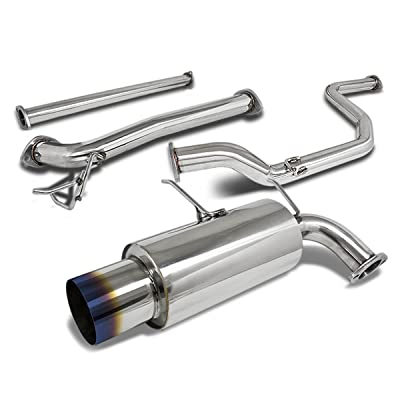 4.5 inches Burnt Muffler Tip Stainless Steel Catback Exhaust System for Acura Integra DA DB 1990-1993: Automotive