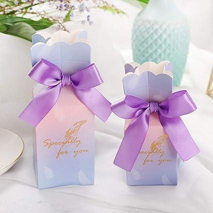 50 pcs Caja de dulces de boda, Bolsa de dulces, Caja de papel ...