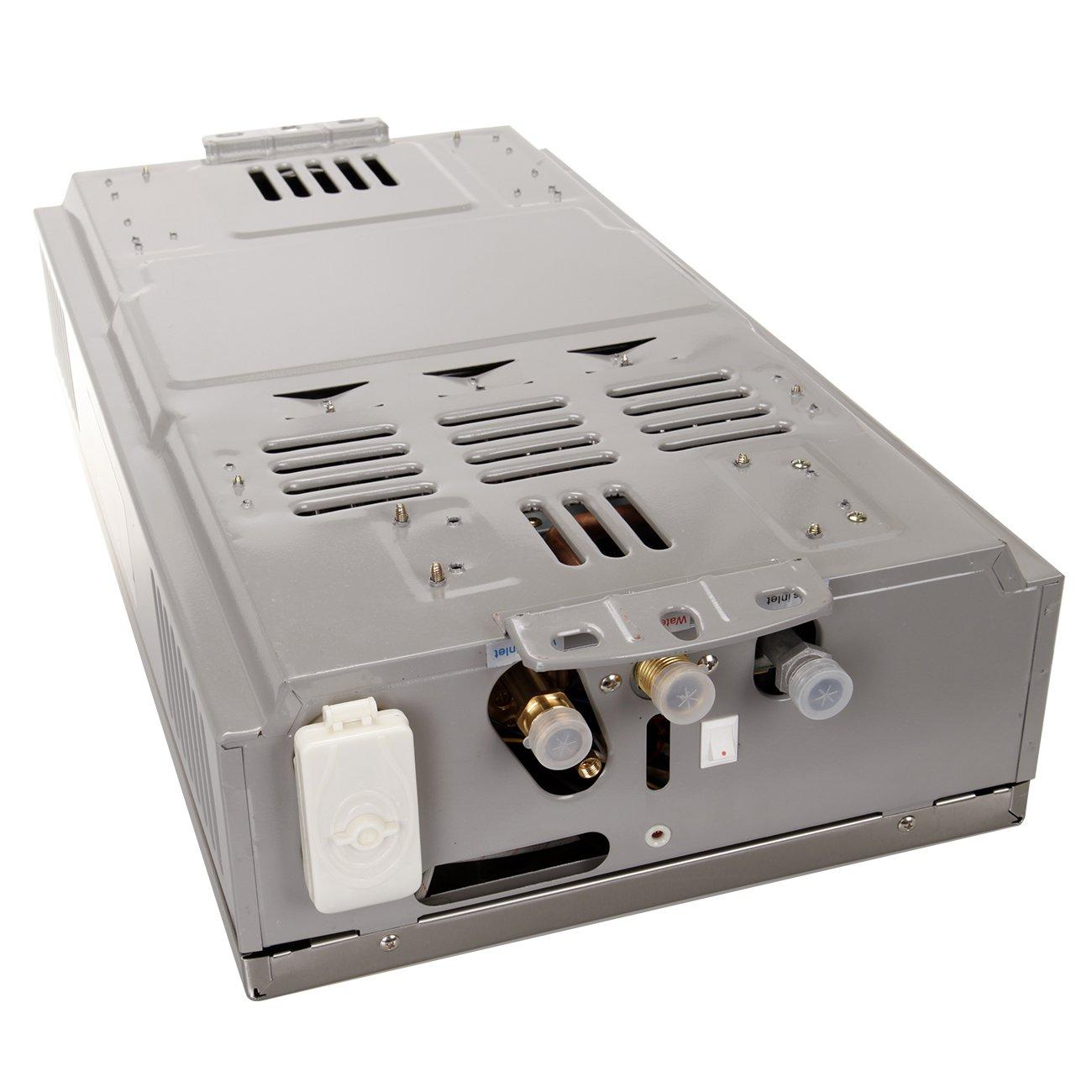 iglobalbuy 12L casa GLP calentador de gas caliente caliente calentador de agua instant/áneo caldera de acero inoxidable