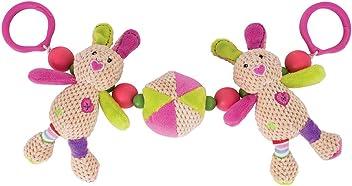 Bigjigs Toys Soft Plush Bruno Pram String Sensory Activity Newborn Buggy Baby
