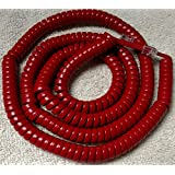 Red 25 Ft Long Handset Phone Cord for at&T Trimline 210 220 230 Princess 500 554 2500 2554 by DIY-BizPhones