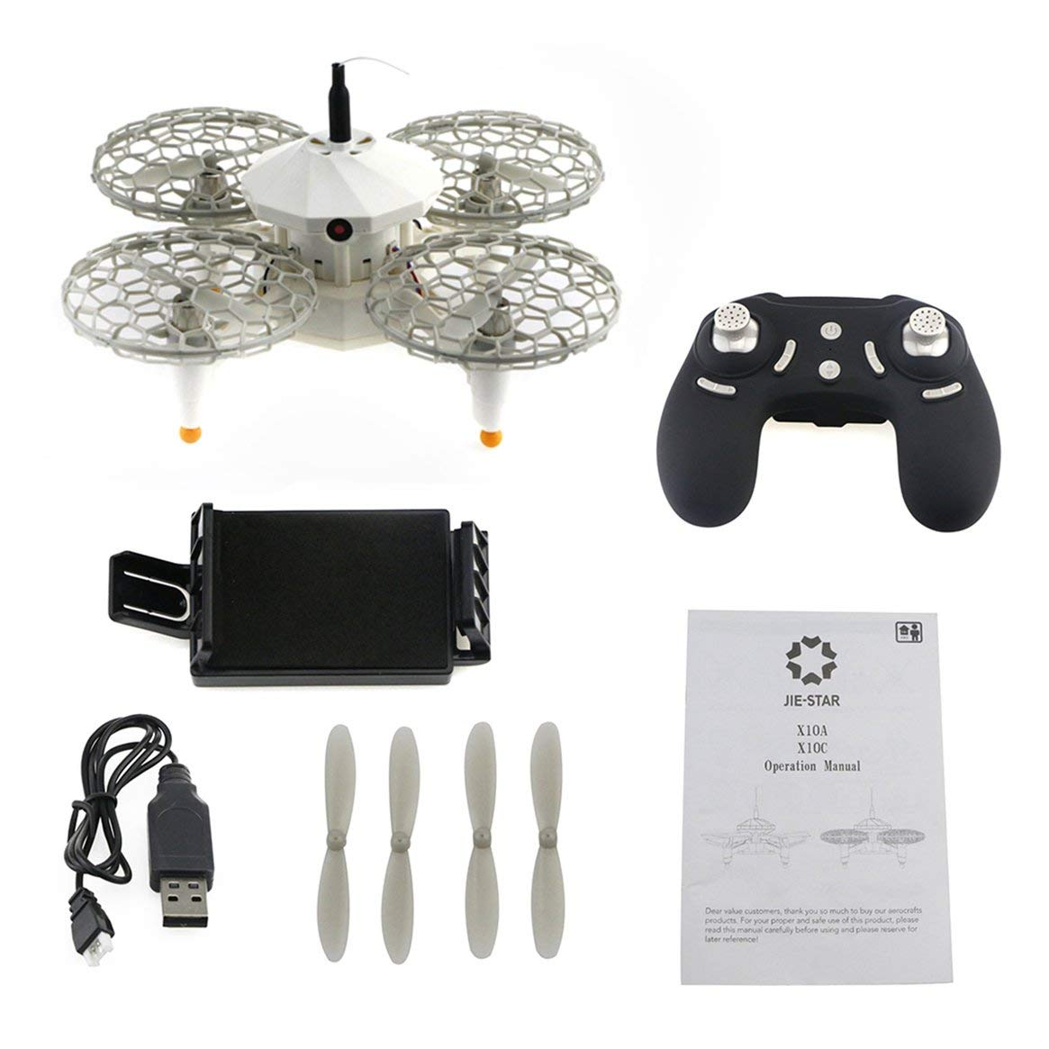 Delicacydex JJRC X10C Folding 30W Kamera-Fernbedienung Quadcopter WiFi FPV Headless Altitude Hold EIN-Schlüssel-Start / Lande-Drohne - Grau