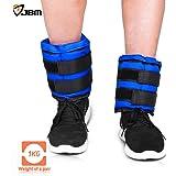 JBM Adjustable Ankle Weights Wrist Leg Weights Sand Filling 2.2lb 4.4lb 6.6lb 8.8lb 11lb 13.2lb 17.6lb 22lb (A Pair) Double Velcro Straps for Walking Jogging Gym Fitness Exercise Gymnastics Aerobics