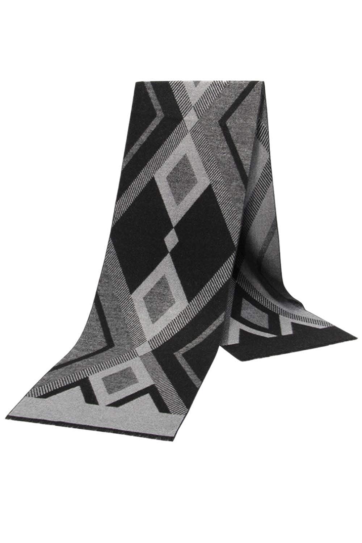 Men Winter Scarf Thicken Casual Simple Elegant Plaid Warm Scarves