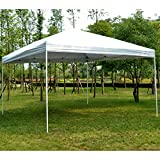 Outsunny 13 x 13 ft Large Pop Up Tent Outdoor Party Gazebo Patio Sun Shade Instant Canopy Shelter White