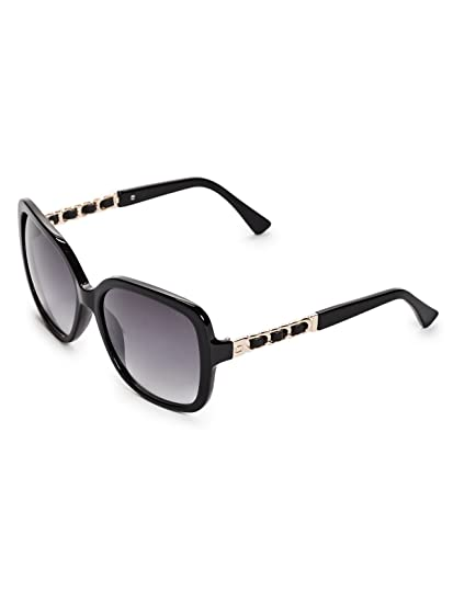 608edcc196d ... Amazon com GUESS Womens GF6060 Shiny Black With Gold Smoke Gradient