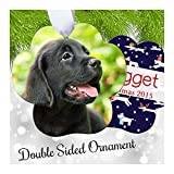 "Pet Photo Christmas Ornament - Personalized Picture Keepsake Paw Shape 3.71"" x 3.59"""