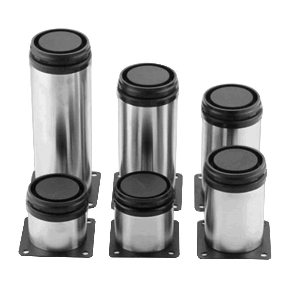Lifemaison 4 pcs Stainless Steel Cabinet Legs Adjustable Kitchen Feet Furniture Legs