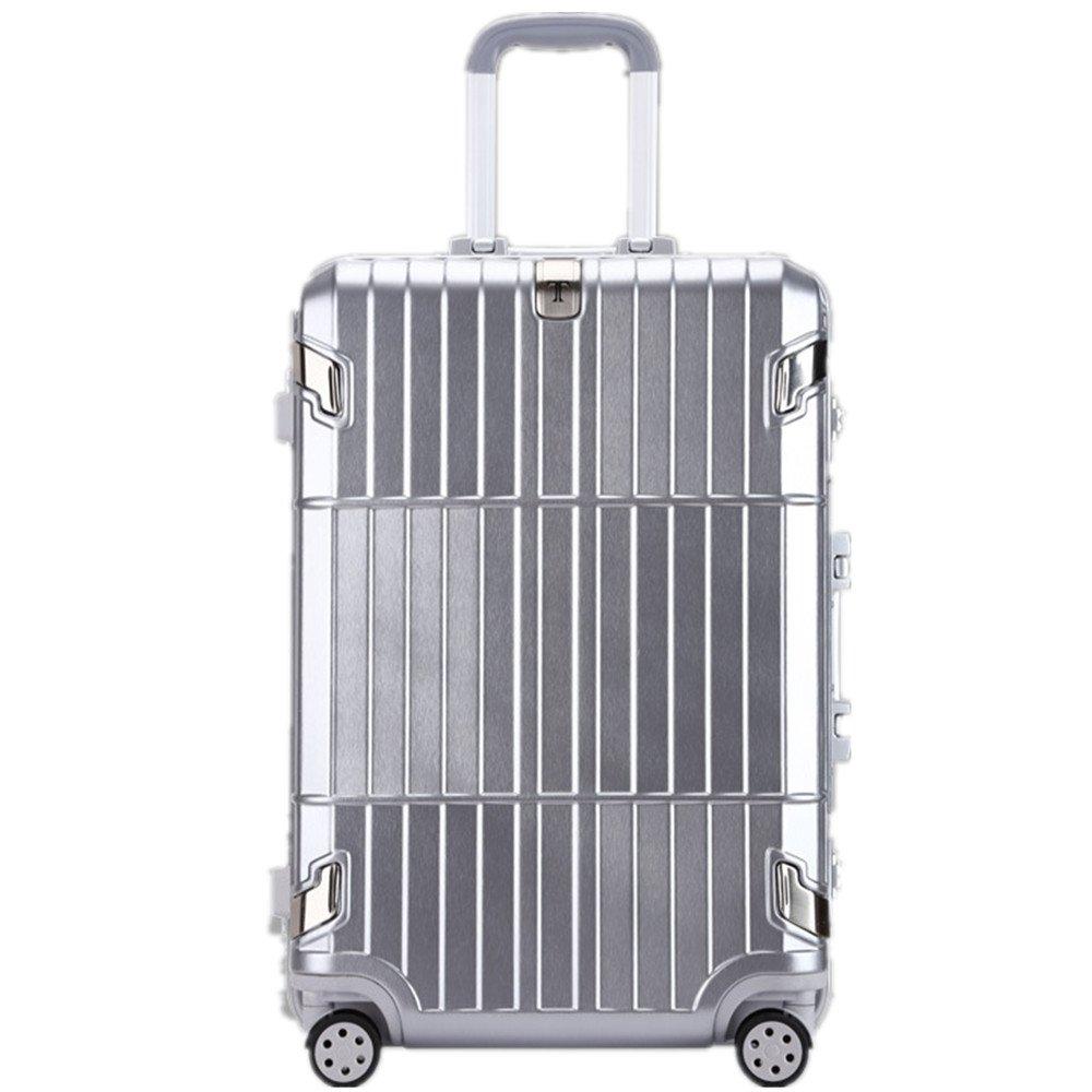 荷物ケース, スーツケース, ビジネスアルミボックストロリーケース男性と女性のトラベルボックス配送ロックパスワードロックボード20インチ24インチ 荷物エアボックススーツケース (サイズ : 24) B07TXCW3Q6  24