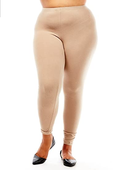 c4214a67502 Image Unavailable. Image not available for. Color  Bozzolo Plus Size Long  Leggings xb4003 (3XL ...