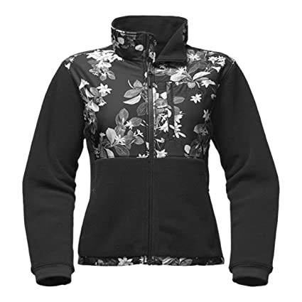 130b72e60 The North Face Women's Denali 2 Jacket (Large, TNF Black/TNF Black Late  Bloomer Print)