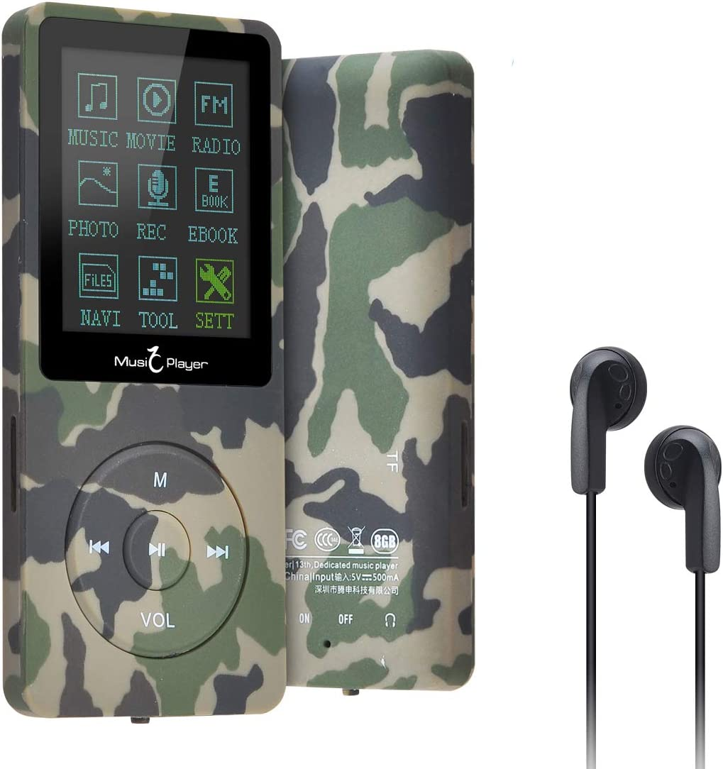 Expandable up to 128GB with Video Play//FM Radio//Ebook//Voice Recording Function TOP STAR 8GB MP3 Player Walkman HiFi Lossless Sound Supports MP3//WAV//APE//FLAC Format