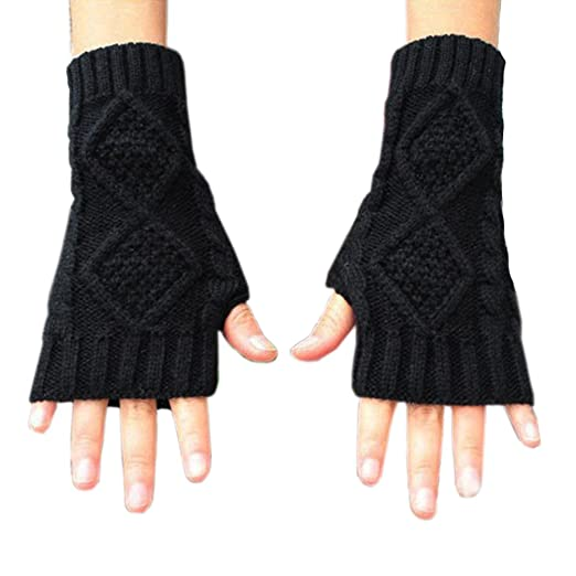 b67675f9b99dd Image Unavailable. Image not available for. Color: Novawo Women's Hand  Crochet Winter Warm Fingerless Arm Warmers Gloves